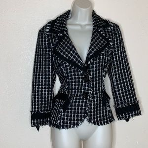 WHBM || White House black market tweed blazer 8